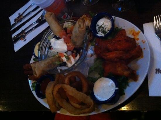 Hard Rock Cafe: a taste plate...