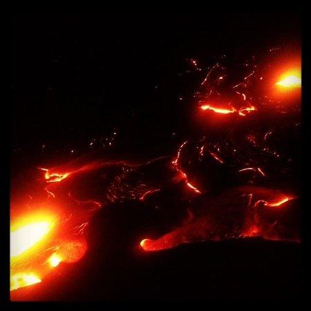 Kalapana Cultural Tours:                   Surface flow lava
