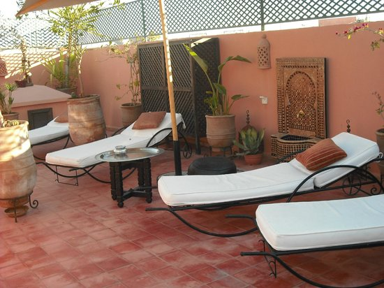 Riad Chafia:                                     terrasse/solarium
