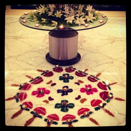 Taj Club House:                   Hotel lobby for Diwali
