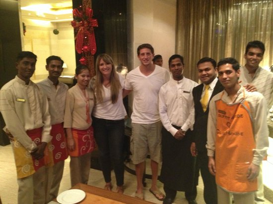 Taj Club House:                   the wait-staff at the Club House