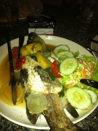 Cookies's Salad Resort:                   Barbacue Sea bass