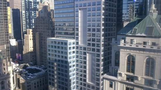 Hilton Times Square :                   View when looking right from room.  Facing 42nd.