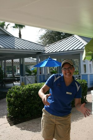 Marriott's Harbour Lake:                   Christine at the Outpost