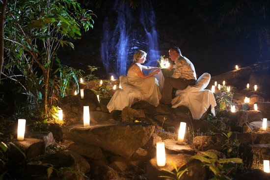 The Sarojin:                   Waterfall Dinner