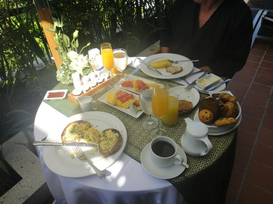The Sarojin:                   Honeymoon Breakfast