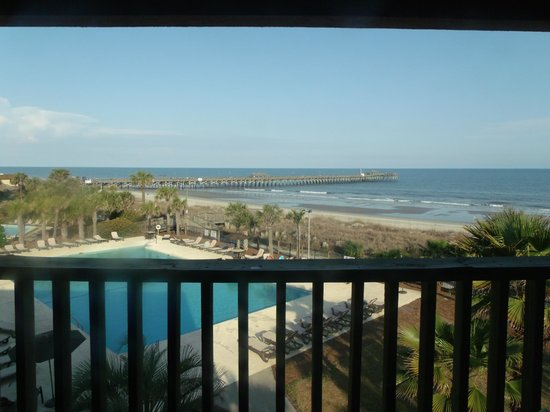 Springmaid Beach Resort & Conference Center:                   View from Balcony
