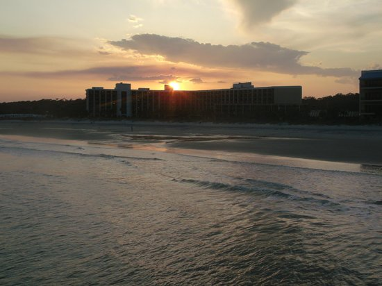 Springmaid Oceanfront Resort Myrtle Beach:                   Out on Pier during Sunset