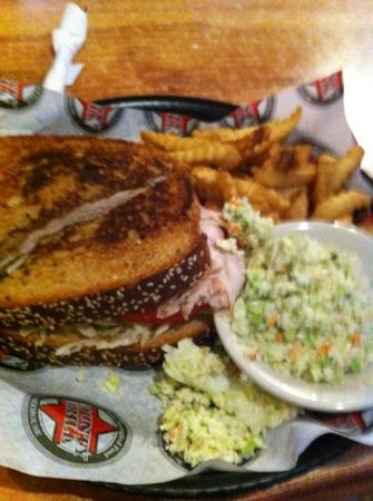 County Grill:                                     turkey sandwhich