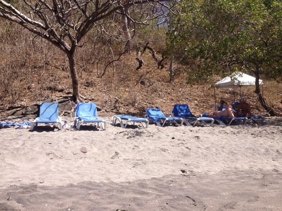 Villas Sol Hotel & Beach Resort:                   chairs at the beach and tent with drinks