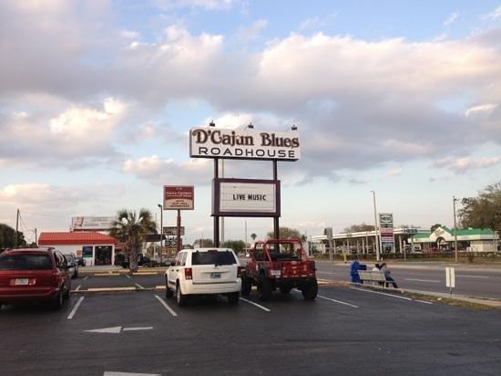D'Cajun Blues Roadhouse:                   main sign