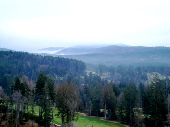 Westin Bear Mountain Victoria Golf Resort & Spa:                   One of the two beautiful golf courses here and the view from our room