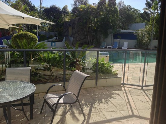 Noosa Blue Resort:                   A perfect spot to have a coffee and read before a swim.