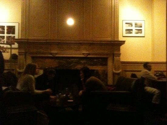 Brewer's Art :                   interior featuring massive mantle