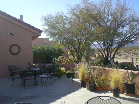Stagecoach Trails Guest Ranch:                   Patio between main lodge and dining hall. Great place to watch sunsets.