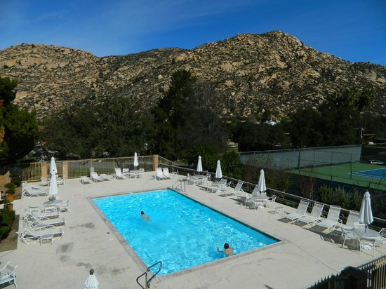 San Diego Country Estates:                   Pool overlooking the foothills
