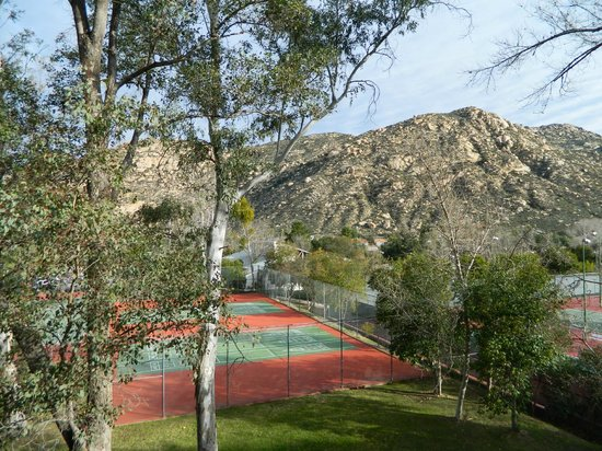 San Diego Country Estates :                   Tennis courts on the condo grounds