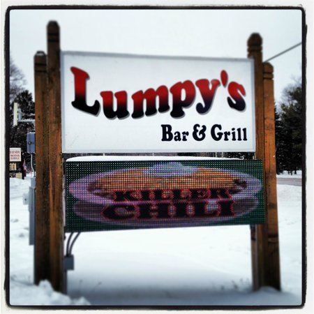 Lumpy's Bar & Grill: The road sign you do not want to miss!