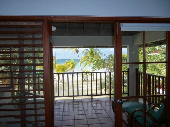 Couples Swept Away:                   Clear ocean view from within the room, Beachfront Suite