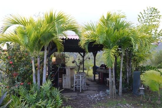 The Palmwood:                                     Outdoor kitchen area