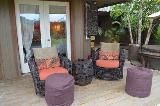 The Palmwood:                                     East Room - private lounging and hot tub