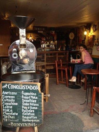 Cafe Conquistador:                   café conquistador