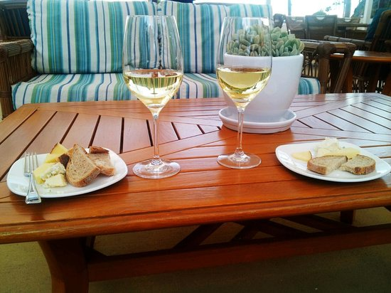 Pavilion Hotel:                   wine and cheese by fire and enjoying the beach at the same time