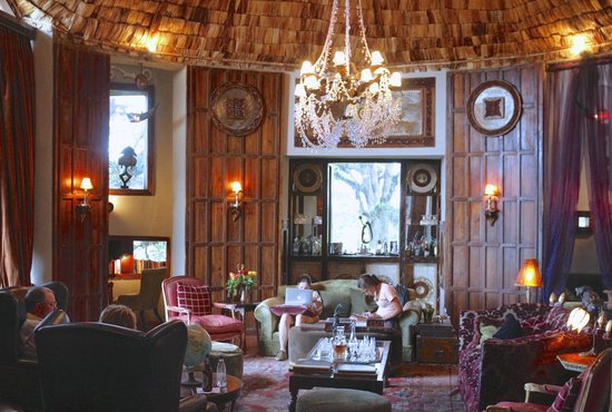 andBeyond Ngorongoro Crater Lodge:                   the lobby ( where internet works )