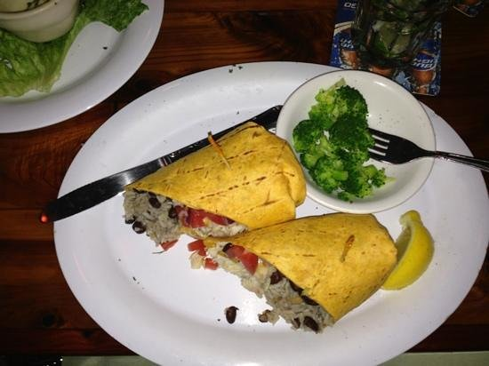 Old Key Lime House:                   Mahi Burrito with Steamed Broccoli