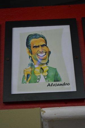 Caricatura :                   Alejandro Fernández