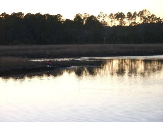 Borrell Creek Landing: The Marsh just after sunset
