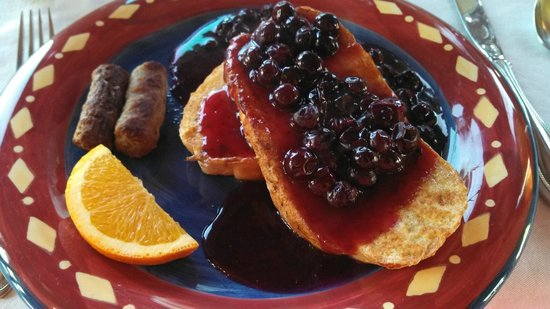 The Overlook Inn Bed and Breakfast:                   Blueberry French Toast