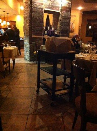 Antica Osteria Italian Eatery Limited: grana padano wheel where the pasta gets mixed at your table
