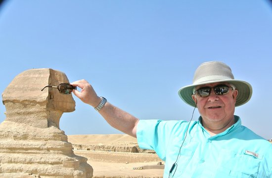 Sphinx : We are silly Tourists taking silly pictures.