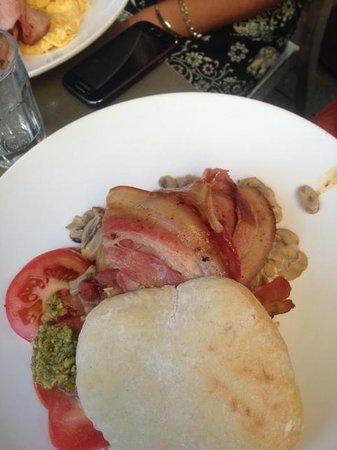 Groove Kitchen Espresso:                   Breakfast Bap. FYI, mushrooms were average.