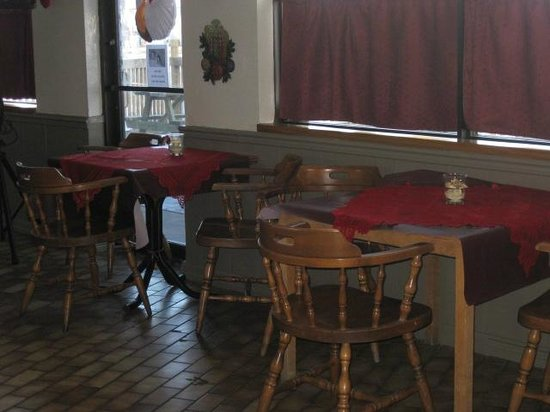 Dempsey's Bar & Grill : Benches have been removed