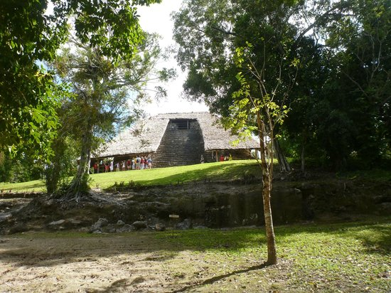 Quintana Roo, Mexico:                   The covered pyramid to protect the masks