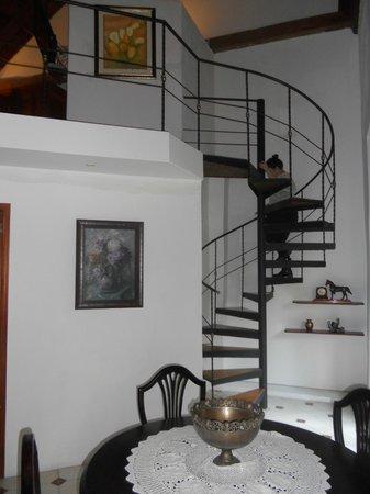 Alfiz Hotel :                   Spiral staircase!!