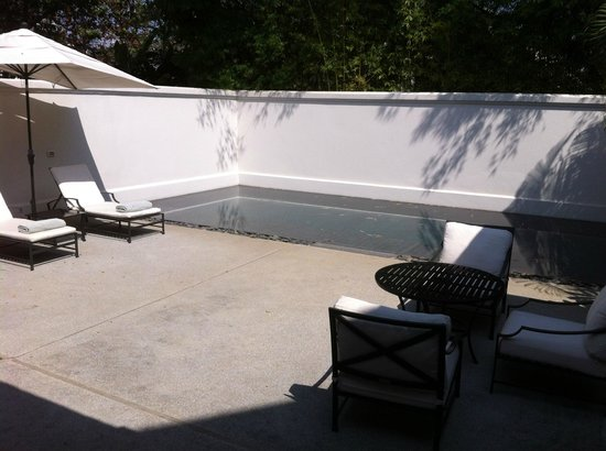 private pool of the Amantaka suite