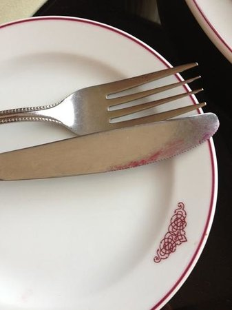 Empress Hotel:                   unused fork and knife
