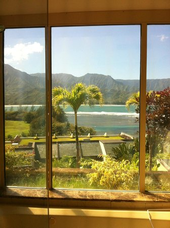 St. Regis Princeville Resort:                   View from hotel bathroom