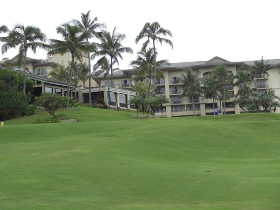 The Ritz-Carlton, Kapalua:                   rear view of hotel