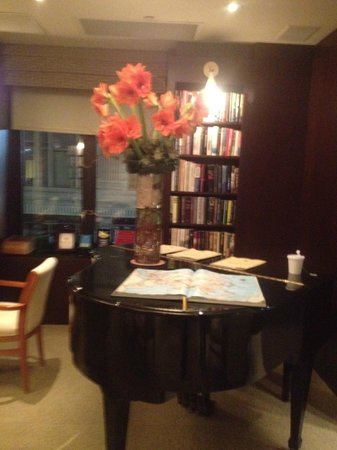Library Hotel:                   Piano in the Reading room