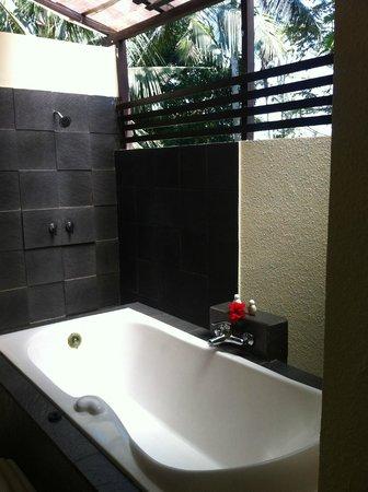 Bhanuswari Resort & Spa :                   Alfresco bathroom!