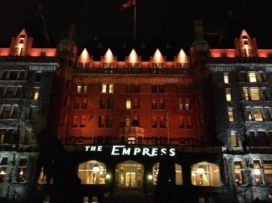 The Fairmont Empress: night shot