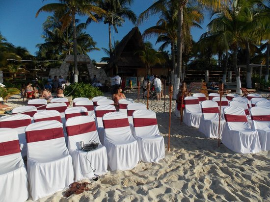 Na Balam Beach Hotel: Set-up for beach-side ceremony