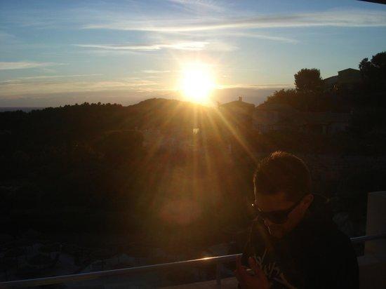 Dolce Fregate Provence: Coucher de soleil