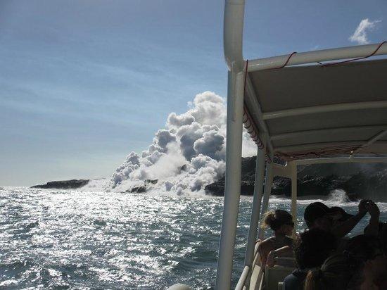 Lava Ocean Tours Inc:                   Getting close!