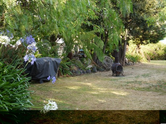Smugglers Rest:                   the bbq area - shaded by the trees, grassed, secluded - lovely