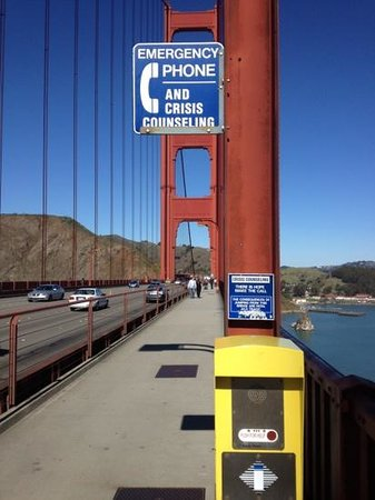 Suicide Prevention Call Box Picture Of Golden Gate
